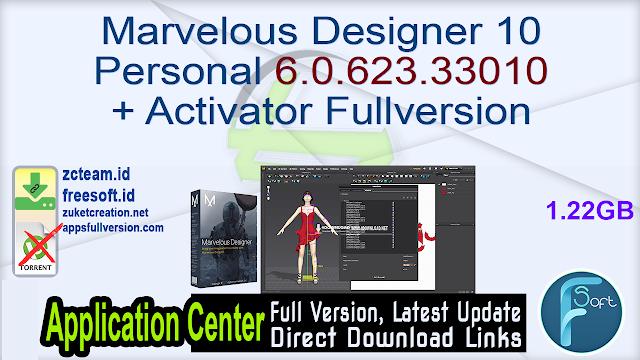 Marvelous Designer 10 Personal 6.0.623.33010 + Activator Fullversion