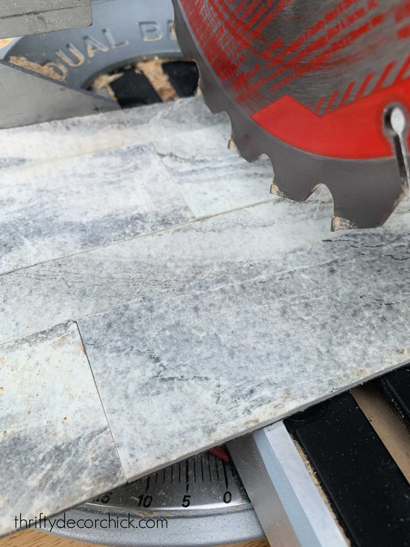 how to cut peel and stick tile