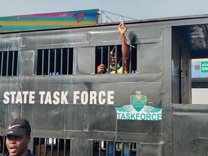 BREAKING: #EndSARS protesters arrested at Lekki Tollgate (Photos)