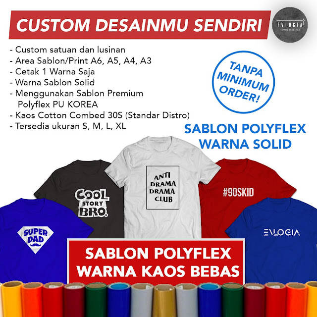Jasa Sablon Custom Jambi Paling Top