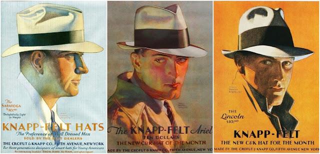 Wonderful Knapp-Felt Hat Ads From the 1920s