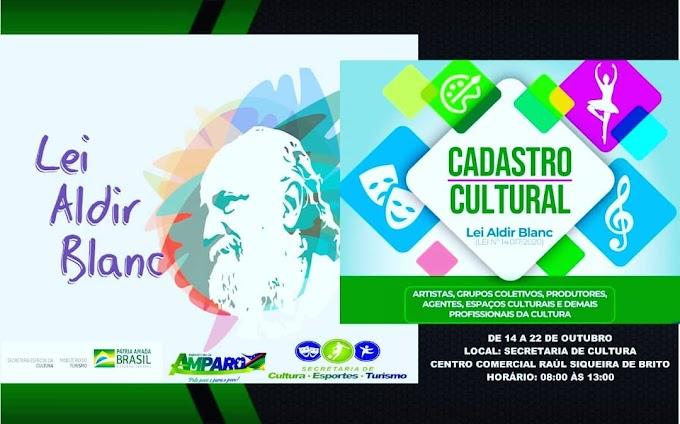 Secretaria de Cultura de Amparo convida artistas locais para fazer o cadastro para utilização do saldo da Lei Aldir Blanc