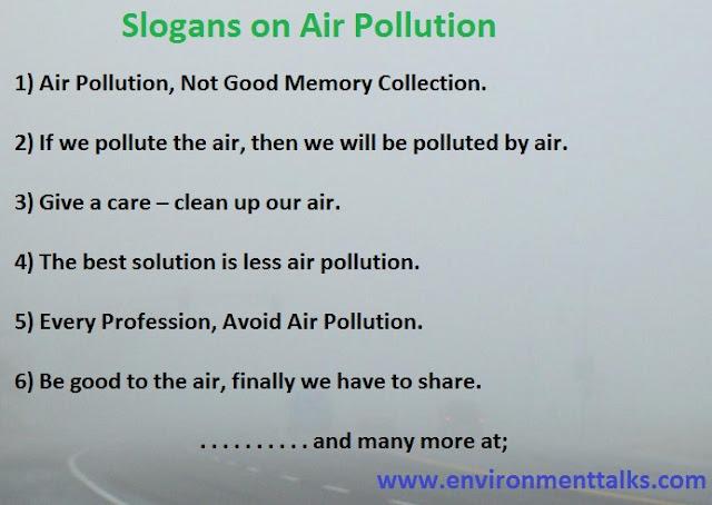 Slogans on Air Pollution
