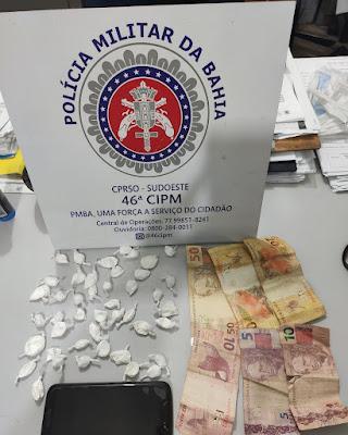 Casal é preso com drogas no centro de Livramento de Nossa Senhora