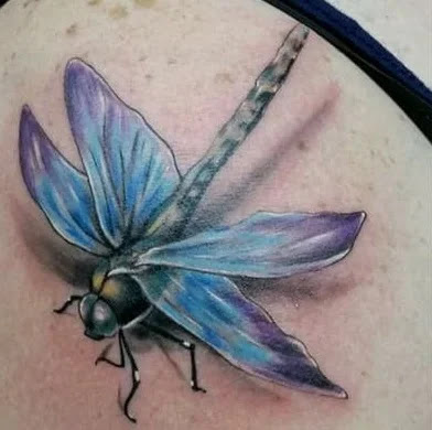 small dragonfly tattoo
