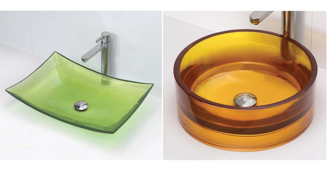 Colorful sinks for the bathroom.