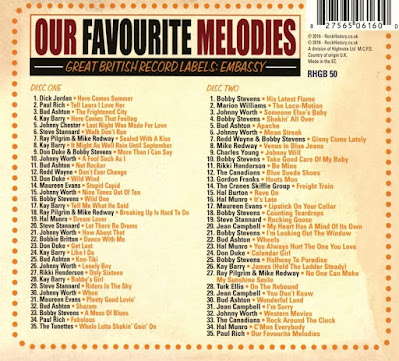 RHGB 50 VA - Our Favourite Melodies - Great British Record Labels: Embassy