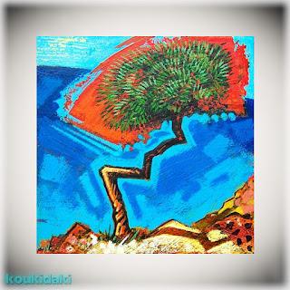 Πίνακας Alexander Nisbet (Singing tree, ακρυλικό σε καμβά)