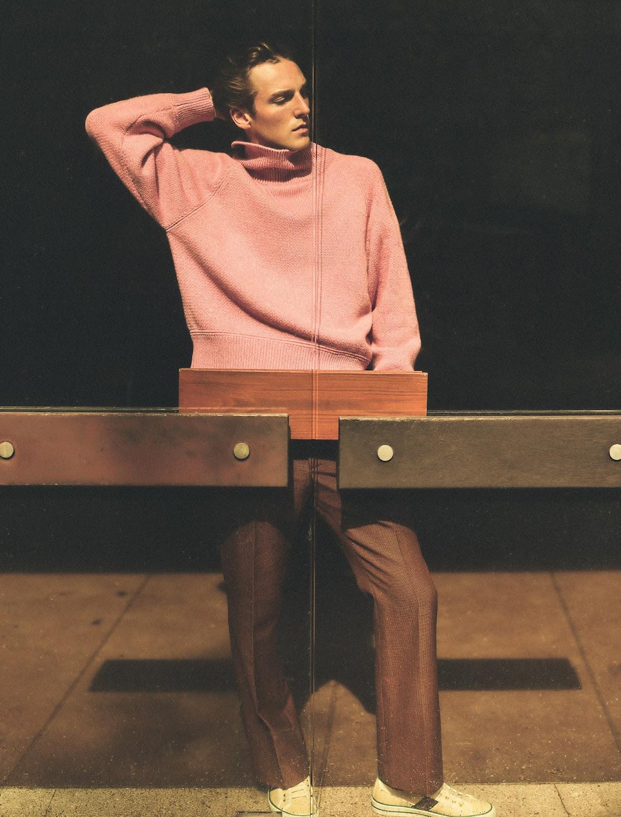 SMILE: Quentin Demeester & Malika Louback in WSJ. Magazine Men's Fall 2021 by Annemarieke Van Drimmelen
