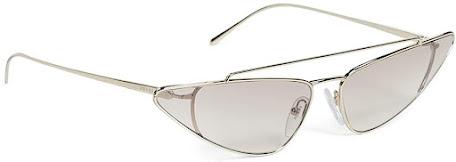 Gold Prada Cat Eye Sunglasses