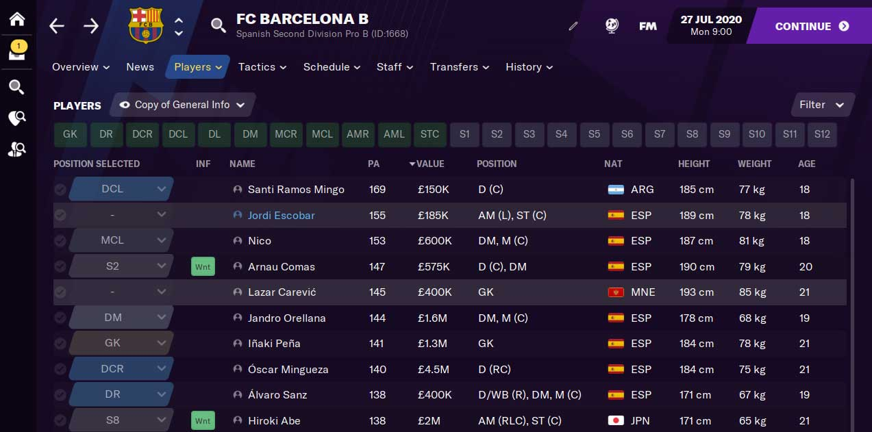 Build up transfer budget in Football Manager | Targeting players in top clubs B teams