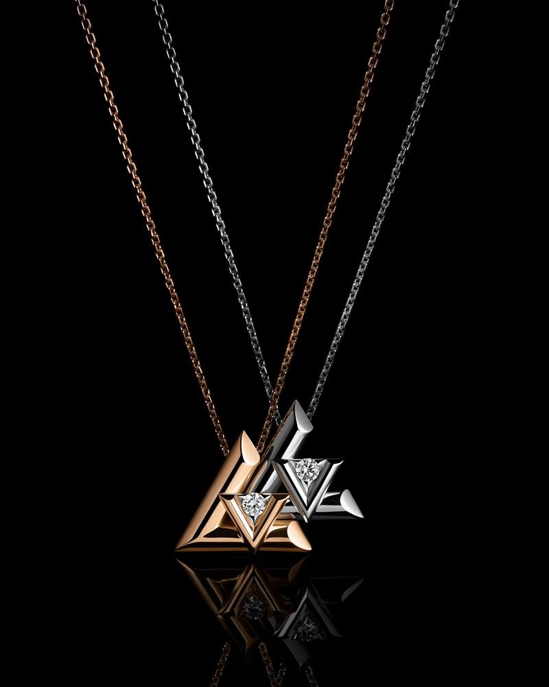 Necklaces from Louis Vuitton LV Volt collection.