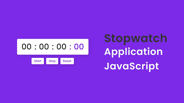 Create Stopwatch in HTML CSS and JavaScript