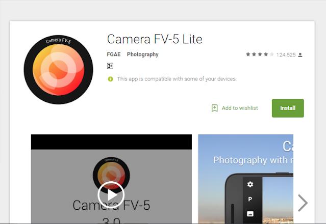 Cara Menggunakan Aplikasi Camera FV-5 Lite