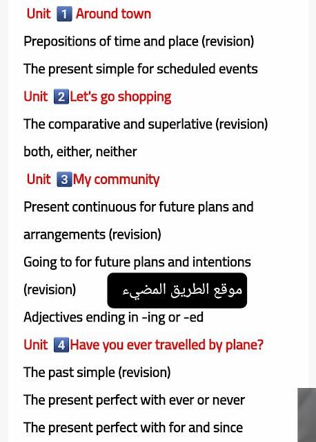 مقرر منهج اللغة الانجليزية الجديد للصف الثالث الاعدادي 2022