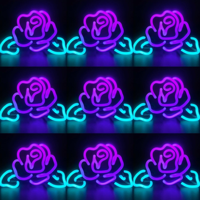 Aesthetic Neon Purple