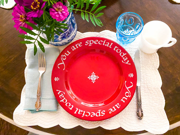 You are Special Today Red Plate