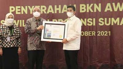 Hebat! Pemko Sawahlunto Peringkat Pertama Nasional BKN Award 2021