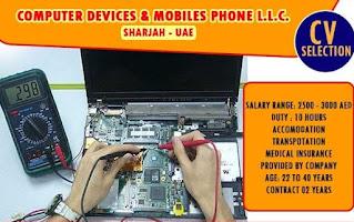 Mobile/ Laptop/ Printer Repair Specialist Job Recruitment  For A Company In Bur Dubai