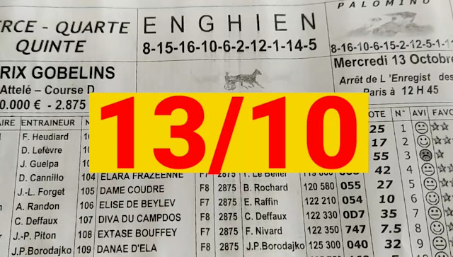programme quinté+ Pronostic quinté Mercredi 13/10/2021