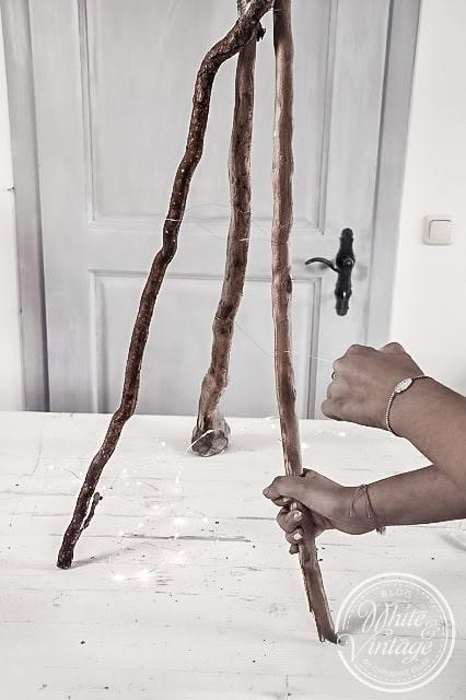 Christbaum aus Holz selber machen