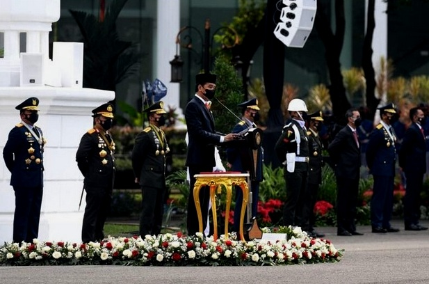 Amanat Presiden RI dan Pidato Gubernur Kepri di Hari Dirgahayu TNI Ke-76