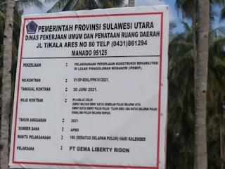 Dana Miliyaran Rupiah Pelaksanaan Pekerjaan Konstruksi Rehabilitasi Irigasi DiLolak Pinagaluman Diduga Bermasalah.