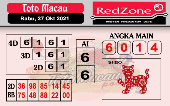 Redzone Macau Rabu 27 Oktober 2021