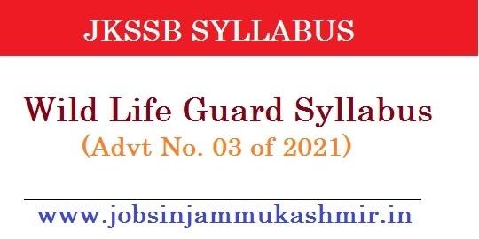 Jkssb Wildlife Guard Syllabus 2021