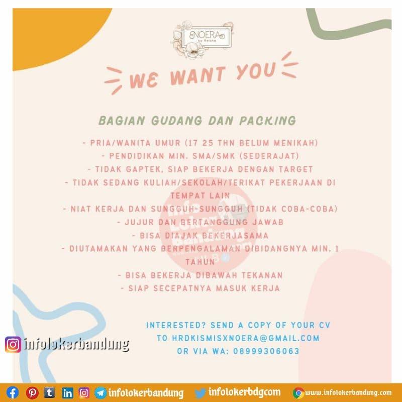 Lowongan Kerja Noera Onlineshop Bandung Oktober 2021