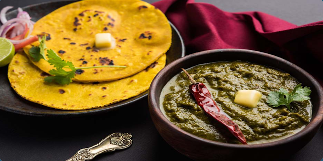 What is the 3rd item with Saag and Roti?