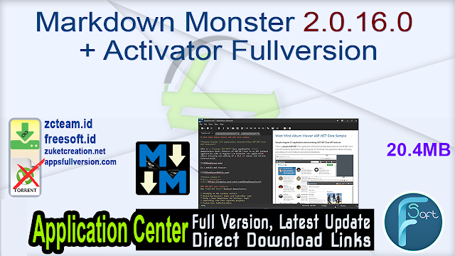 Markdown Monster 2.0.16.0 + Activator Fullversion