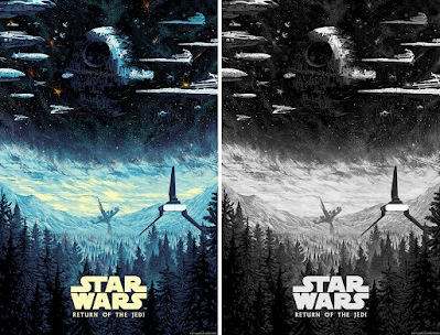 """New York Comic Con 2021 Exclusive Star Wars: Return of the Jedi """"It's Your Destiny"""" Screen Print by Kilian Eng x Bottleneck Gallery"""