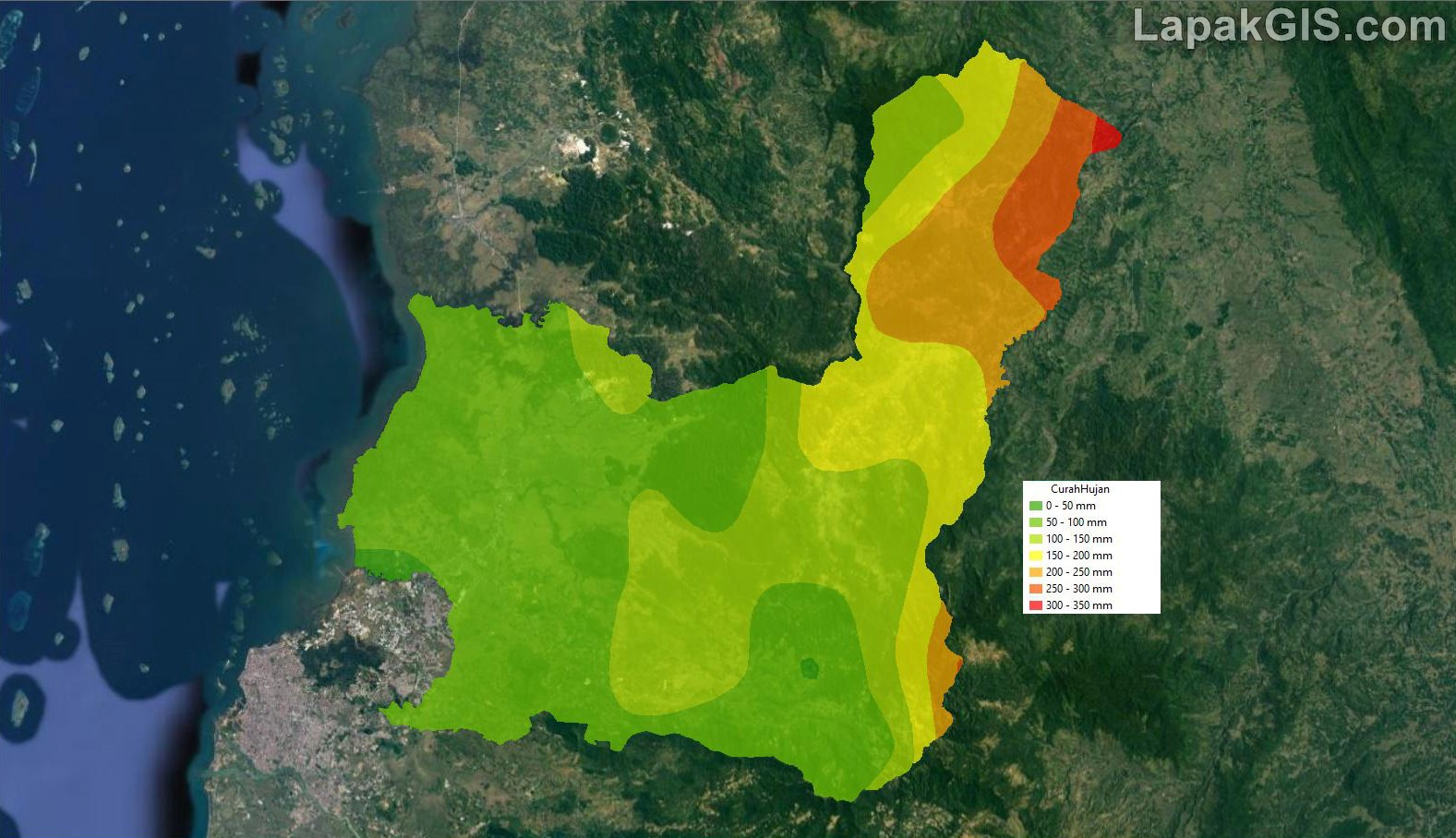 Shapefile Peta Curah Hujan Rata-rata Indonesia Terbaru