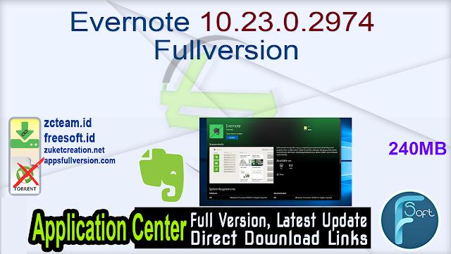 Evernote 10.23.0.2974 Fullversion