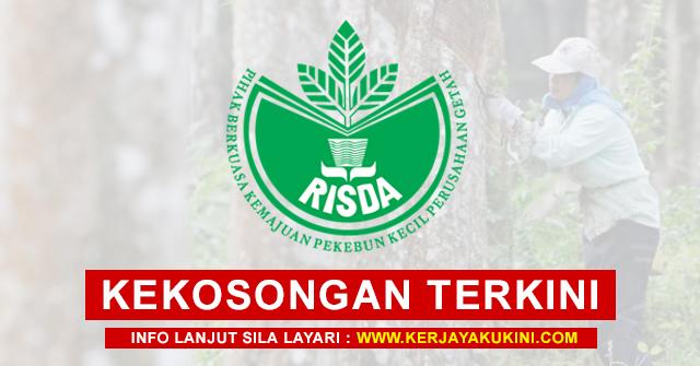 RISDA Buka Pengambilan Kekosongan Jawatan Terkini 2021 ~ GAJI RM2,931 - RM8,334 / Mohon Sekarang!