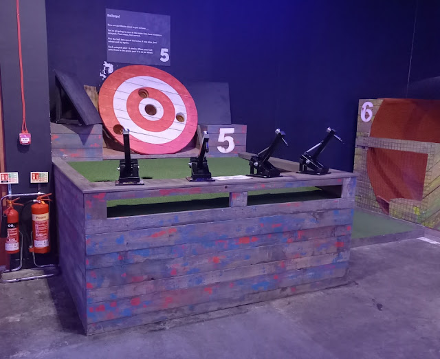 Crazier Golf at Boom: Battle Bar at the Castle Quarter shopping and entertainment centre in Norwich