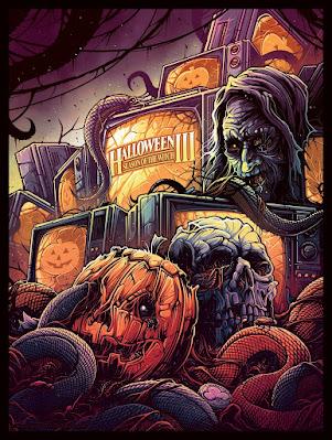 New York Comic Con 2021 Exclusive Halloween III: Season of the Witch Giclee Print by Dan Mumford x Bottleneck Gallery