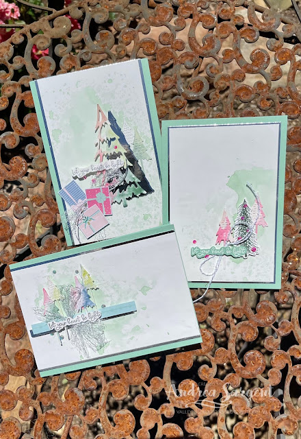 """""""May your heart be light"""" is a lovely blessing that is delivered through these specially created cards for Christmas by Andrea Sargent, Australia."""