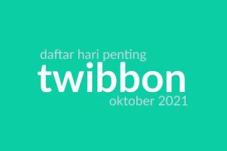 Twibbon Oktober 2021
