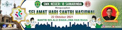 Spanduk Hari Santri Nasional 2021 PSD