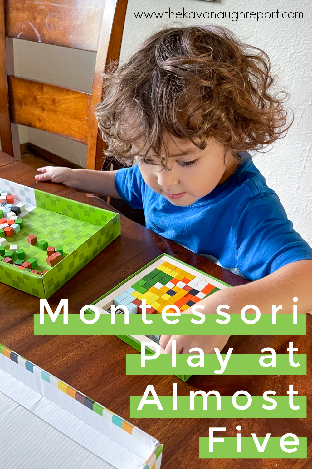 Montessori friendly toy and activity ideas for older 4-year-olds and almost 5-year-olds including practical life and art.