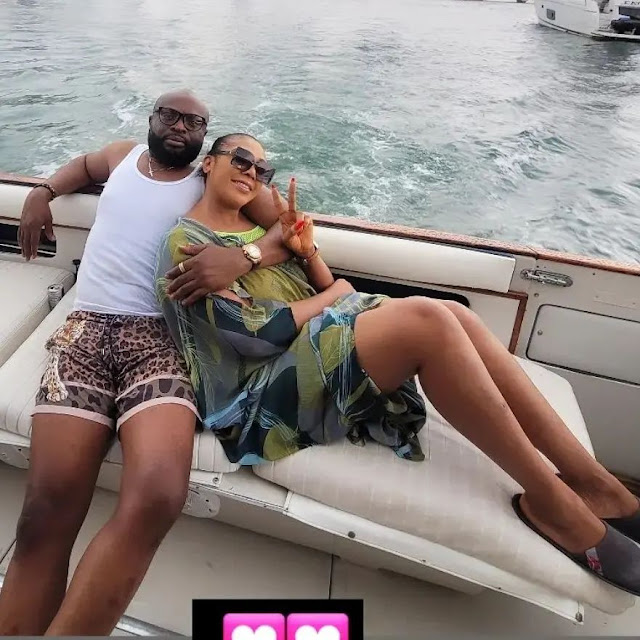 Check out the Romantic Photos of Ehi Ogbebor as she shows off her new man(Photos)