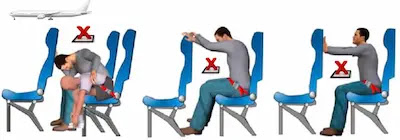 Examples of unacceptable brace positions