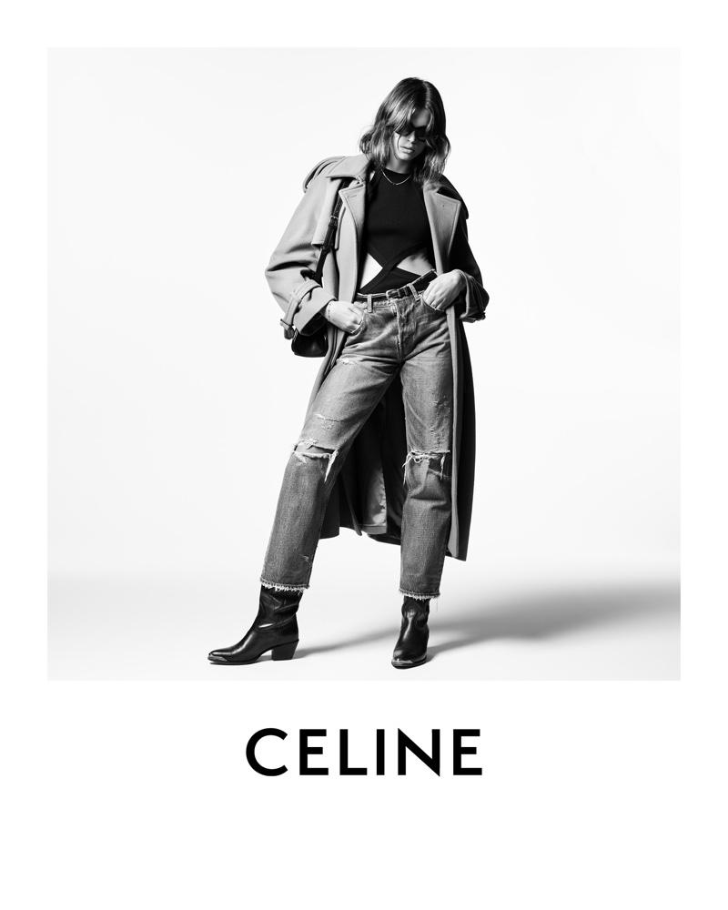Kaia Gerber for Celine Winter 2021 Campaign