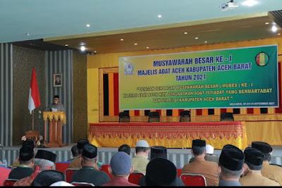 Dalam Forum Mubes Ke 1 MAA, Dandim 0105/Abar Bersuara Lewat Danramil 07/JP Ajak MAA Dapat Melestarikan Adat lstiadat Aceh