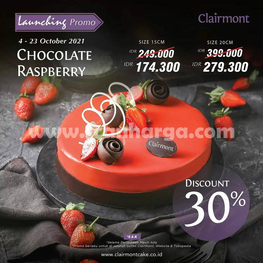 CLAIRMONT Promo Launching CHOCOLATE RASPBERRY Discount 30%