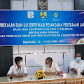 DUKUNG PROGRAM  VISI INDONESIA EMAS 2045 ,DINAS PUPR KAB. NGANJUK  GELAR  PEMBEKALAN UJI SERTIFIKASI PELAKSANA LAPANGAN PEKERJAAN JALAN .