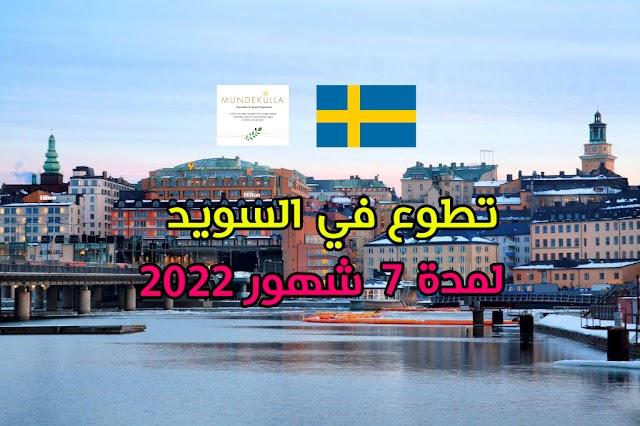 فرصة تطوع مع منظمة Mundekulla في السويد لمدة 7 شهور ( ممولة)
