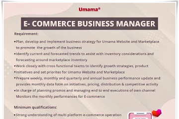 Loker Bandung E-Commerce Business Manager Umama
